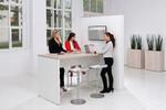 Modernes Zeitmanagement für Ihren Büroalltag mit der Stehkombination aus Bridge und Medienwand von fm