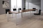 Modell P.A.L.M.A. - die praktische, unter dem Tisch angebrachte Mechanik ermöglicht bei Auf- und Umbauten von kleinen wie auch großen Konferenzlösungen eine schnelle, werkzeugfreie und flexible Montage.