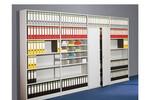 Regal Modell Progress 500 mit vielfältigen Einrichtungsvarianten, dauerstabil aus Möbelstahl.