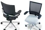 Klöber Orbit Network - das leichte Einsinken in die Softnet-Rückenlehne sorgt für exzellenten Sitzkomfort.
